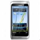 Nokia E7-00 Silver White Bez CZ MENU!